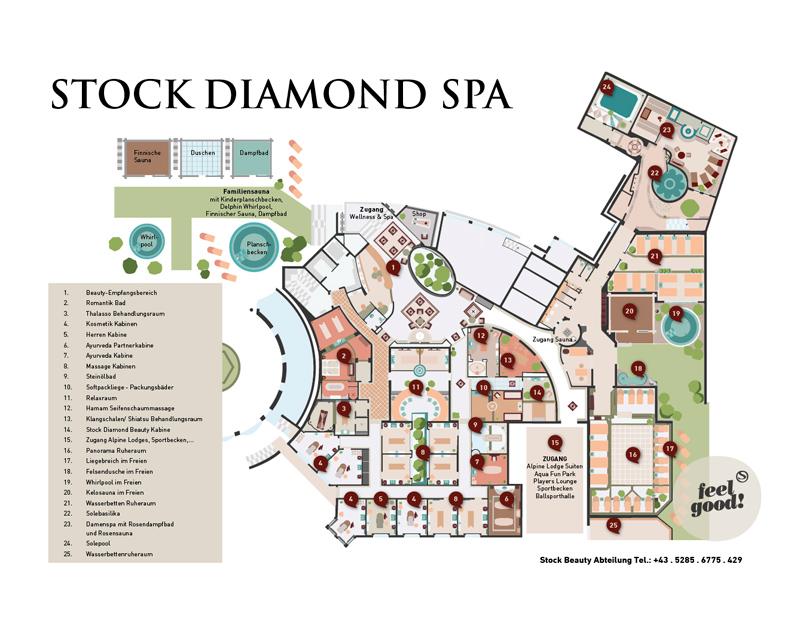 Spa wellness grundriss  Unterkunft in Mayrhofen mit Zugang zu Stocks SPA - Apartments Stock